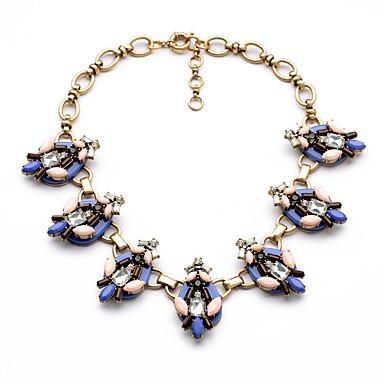 Kadın's Tellerinin Kolye Kristal Moda Kişiselleştirilmiş Euramerican minimalist tarzı Koyu Mavi Mücevher Için Düğün Parti 1pc