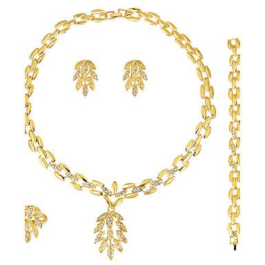 Pentru femei Seturi de bijuterii Cercei / brățară Colier / Inel Modă Euramerican Nuntă Petrecere Ocazie specială Zi de Naștere Logodnă