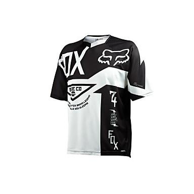 Αλεπού μοτοσικλέτα ρούχα κοντό μανίκι αντιηλιακό αναπνεύσιμος υγρασία εφίδρωση γρήγορο στέγνωμα ρούχα μπλουζάκι καλοκαίρι