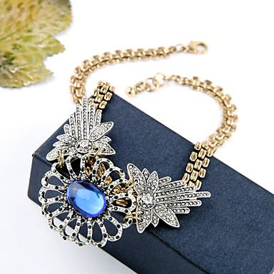 Γυναικεία Κολιέ με Αλυσίδα Κρυστάλλινο Μοντέρνα Εξατομικευόμενο χαριτωμένο στυλ Euramerican Σκούρο μπλε Κοσμήματα Για Γάμου Πάρτι 1pc