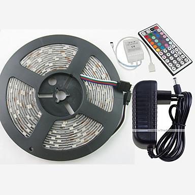 ZDM® 5M RGB-verlichtingsstrips 150 LEDs 1 44-toetsen afstandsbediening 1 x 12V 3A-adapter 1 AC-kabel RGB Knipbaar Waterbestendig