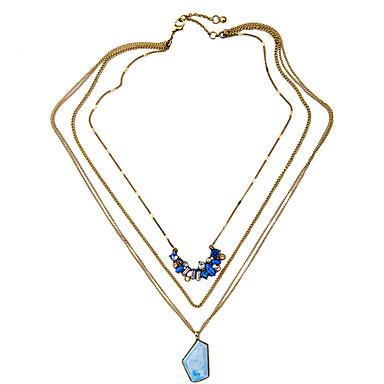 Pentru femei Coliere Layered Personalizat bijuterii de lux Albastru Deschis Bijuterii Pentru Nuntă 1 buc