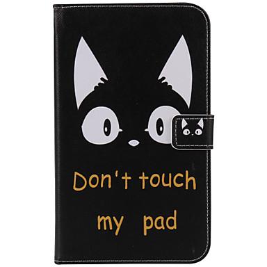Na Etui Pokrowce Portfel Etui na karty Z podpórką Auto uśpienie / włączenie Flip Wzór Futerał Kılıf Kot Twarde Sztuczna skóra na Samsung