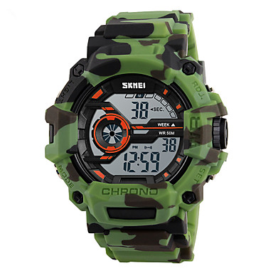 SKMEI Heren Sporthorloge Militair horloge Modieus horloge Polshorloge Digitaal horloge Japans Digitaal Alarm Kalender Chronograaf