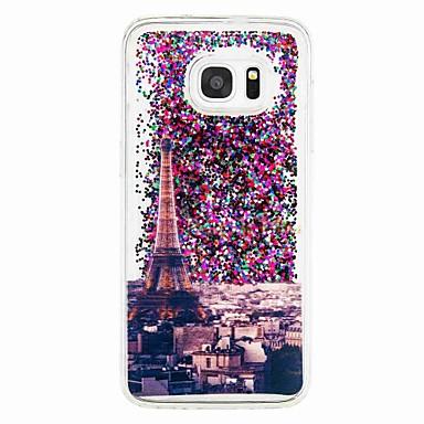 tok Για Samsung Galaxy S7 edge S7 Ρέον υγρό Με σχέδια Πίσω Κάλυμμα Πύργος του Άιφελ Μαλακή TPU για S7 edge S7 S6 edge S6 S5