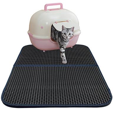 Pisici Paturi Animale de Companie  Rogojini & Pernuțe Mată Faţă-Verso Respirabil Pliabil Negru Pentru animale de companie