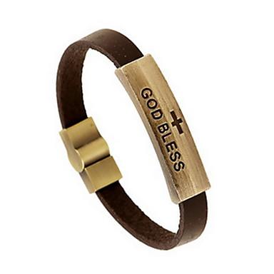 للرجال للمرأة أساور من الجلد الصداقة عتيقة جلد Round Shape مجوهرات من أجل