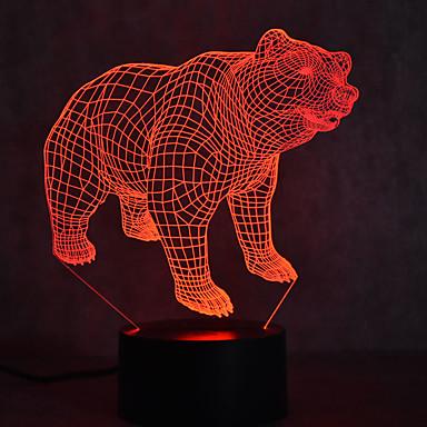 niedźwiedź żółwie dotykowe ściemnianie 3d led night light 7 kolorowa dekoracja atmosfera lampa nowość oświetlenie światło