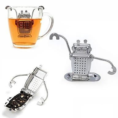 1pcs stali nierdzewnej cute robota herbaty infuser producenta bezpośredniego nadające się do recyklingu filiżanki herbaty narzędzie