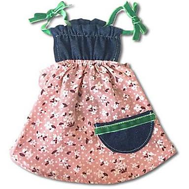 Hund Kleider Hundekleidung Lässig/Alltäglich Blume Blau Rosa Kostüm Für Haustiere