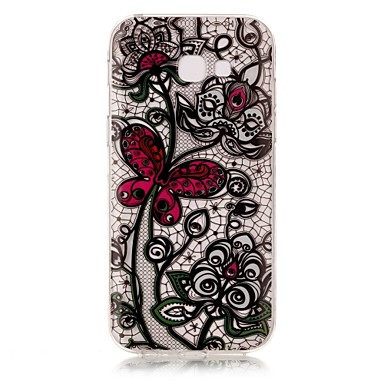 tok Για Samsung Galaxy A5(2017) A3(2017) IMD Διαφανής Με σχέδια Πίσω Κάλυμμα Πεταλούδα Λουλούδι Μαλακή TPU για A3 (2017) A5 (2017)