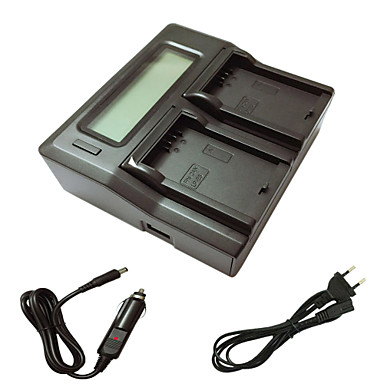 Ismartdigi lpe5 eu lcd încărcător dual cu cablu de încărcare pentru canon lp-e5 eos 500d 1000d 450d camera foto baterie