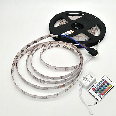 5m Işık Setleri 300 LED'ler SMD 2835 1 24Keys Uzaktan Kumanda RGB Su Geçirmez / Dekorotif 12 V 1set / IP65