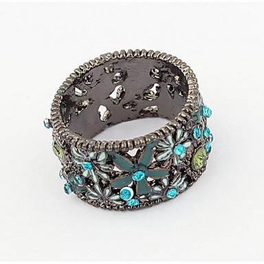 Herrn Damen Ring Bandring Synthetischer Diamant Personalisiert Blumig Einzigartiges Design Logo Stil Blumen Stil Klassisch Retro