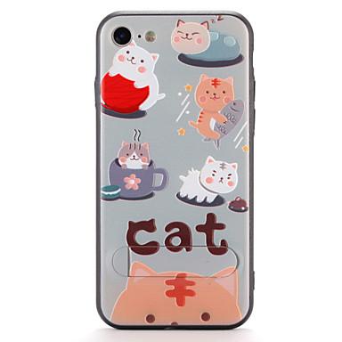 iPhone 7 7plus suojus jalustalla kuvio takakansi tapauksessa kissa vaikea pc 6s plus 6 plus 6s 6