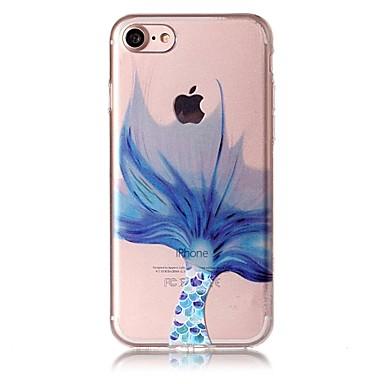 Uyumluluk iPhone 8 iPhone 8 Plus Kılıflar Kapaklar Şeffaf Süslü Temalı Arka Kılıf Pouzdro Karton Yumuşak TPU için Apple iPhone 8 Plus