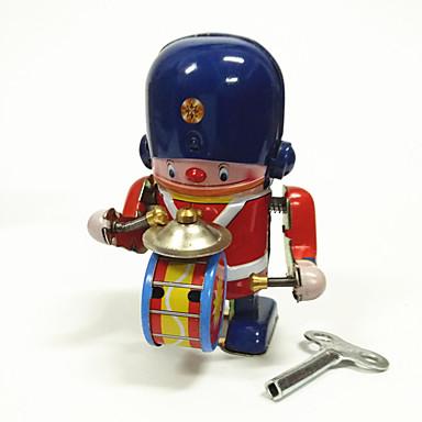 Robotti Vedettävä lelu Lelut Ompelukone Robotti Rumpusetti Rauta Metalli Vintage 1 Pieces Lasten Lahja