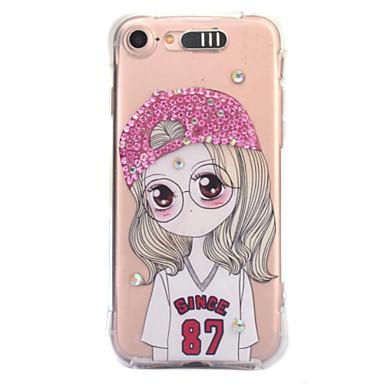 Für Apfel iphone 7 7 plus 6s 6 plus Fallabdeckung reizvoller Schönheitsmusterdiamanttropfen kommt mit Anrufblitz tpu Materialtelefonkasten