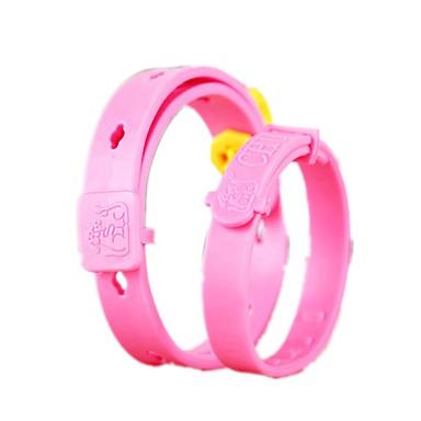Kot Pies Obroże Korygujący / Wysuwany Wodoodporny Jendolity kolor Silikonowy Różowy