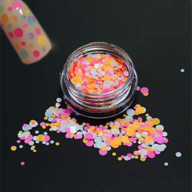 1bottle moda unghii art glitter rotund paillette dulce decorare unghii art diy frumusete colorate rotund felie p32
