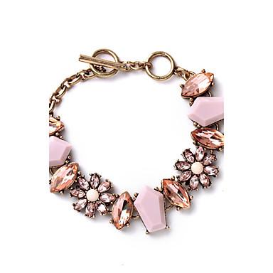 للمرأة أساور السلسلة والوصلة مجوهرات موضة سبيكة Geometric Shape مجوهرات من أجل زفاف حزب