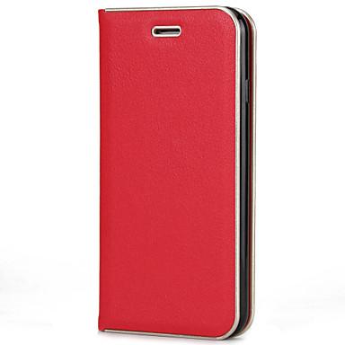 Voor apple iphone 7 7 plus 6s 6 plus 5s 5 case cover solid color pu huid materiaal pc metalen textuur frame sterke magnetische