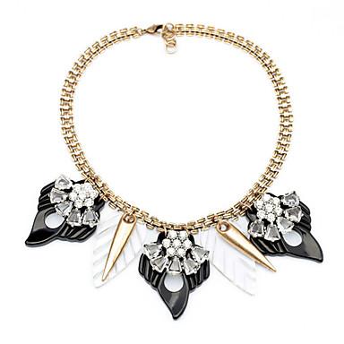 Pentru femei Toroane Coliere Flower Shape Design Unic Euramerican Negru Bijuterii Pentru Casual Cadouri de Crăciun 1 buc