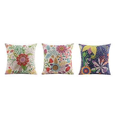 3 szt Bielizna Poszewka na poduszkę Poduszka na łóżko Poduszka Body Pillow Poduszka turystyczna sofa Poduszka,Kwiatowy Wzory graficzne
