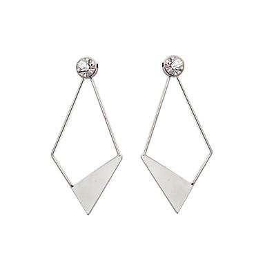 Pentru femei Diamant sintetic Cercei Picătură - Ștras Personalizat, Γεωμετρικά, Design Unic Argintiu Pentru Cadouri de Crăciun / Nuntă /
