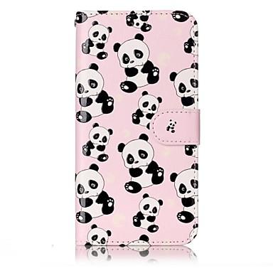 Für lg g6 Fallabdeckung Panda Muster Glanz Relief Pu Material Karte Stent Brieftasche Telefon Fall