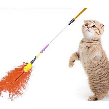 Παιχνίδι για γάτες Παιχνίδια για κατοικίδια Διαδραστικό Πειραχτήρια Ανθεκτικό Ύφασμα Πλαστική ύλη Για κατοικίδια