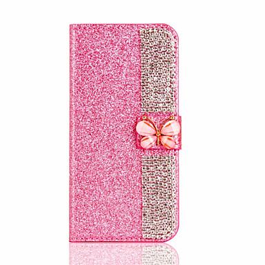 Für Apple iPhone 7 plus 7 Kartenhalter Brieftasche Fall Ganzkörper Fall Glitter Glanz harte PU Leder für iPhone 6s plus 6 6s