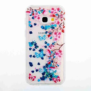Maska Pentru Samsung Galaxy A5(2017) A3(2017) Scurgere Lichid Model Carcasă Spate Floare Moale TPU pentru A3 (2017) A5 (2017) A5(2016)