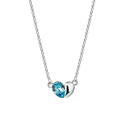 Damen Herz Gestalten Einzigartiges Design Logo Stil Quaste Schmuck mit Aussage Film-Schmuck Viktorianisch Modisch Anhängerketten Kristall
