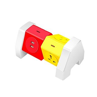 Abs bara de culoare colorata 4 porturi cu 2 porturi de incarcare usb 180 de grade rotatie libera peste protectie