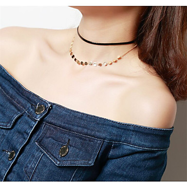 Pentru femei Altele Personalizat Modă Euramerican Coliere Layered Bijuterii Articole de ceramică Coliere Layered . Ocazie specială Zilnic