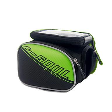 Geantă Motor Genți Cadru Bicicletă Telefon mobil Bag Impermeabil Fermoar Impermeabil Purtabil Telefon/Iphone Ecran tactil Geantă Biciletă