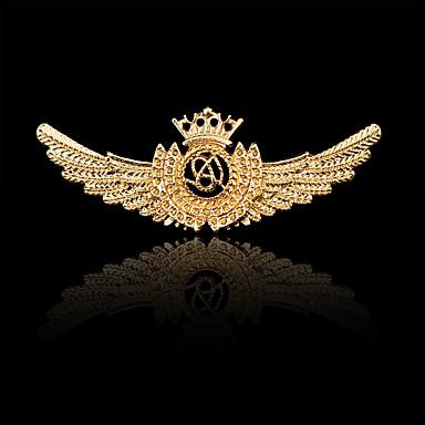 نساء صبيان اخرى دبابيس مخصص هيب هوب Rock euramerican في مطلية بالذهب سبيكة Crown Shape أجنحة مجوهرات من أجل يوميا فضفاض