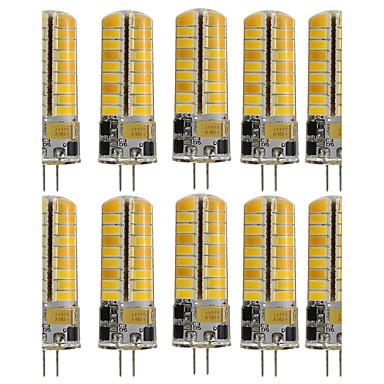 Недорогие Светодиодные электролампы-10 шт. 3 W Двухштырьковые LED лампы 250-300 lm G4 T 72 Светодиодные бусины SMD 5730 Декоративная Тёплый белый Холодный белый 110-130 V 12 V / RoHs