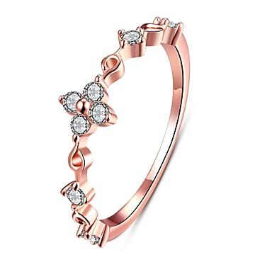 Γυναικεία Δαχτυλίδι Cubic Zirconia Χρυσό Ασημί Rose Gold Ζιρκονίτης Χαλκός Επάργυρο Κράμα Κυκλικό Geometric Shape Ακανόνιστος