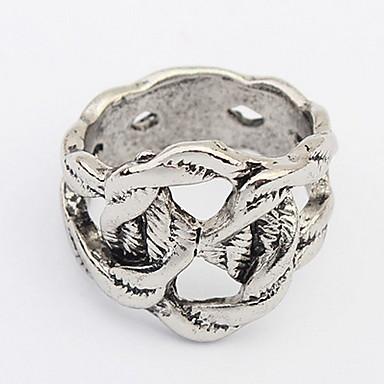 Damen Bandringe Ring Schmuck Personalisiert Einzigartiges Design Logo Stil Klassisch Retro Böhmische Grundlegend Schmuck mit Aussage
