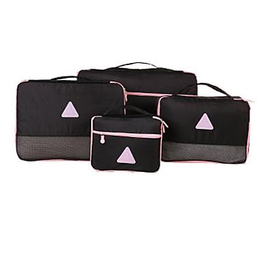 4 piese Organizator Bagaj de Călătorie Impermeabil Portabil Depozitare Călătorie pentru Haine Sutiene Nailon pentru Călătorie