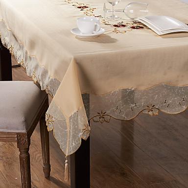 Poly / Cotton Mieszanka Prostokątny Obrusy Haft Dekoracje stołowe