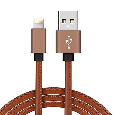 abordables Câbles pour Mac-USB 2.0 / Eclairage Câble <1m / 3ft Tressé / Haut débit / Plaqué or faux cuir / Aluminium Adaptateur de câble USB Pour Macbook / iPad / MacBook Air