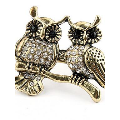 Heren Dames Bandringen Ring Bergkristal Gepersonaliseerde Uniek ontwerp Logostijl Dierenontwerp Klassiek Vintage Bohémien Standaard
