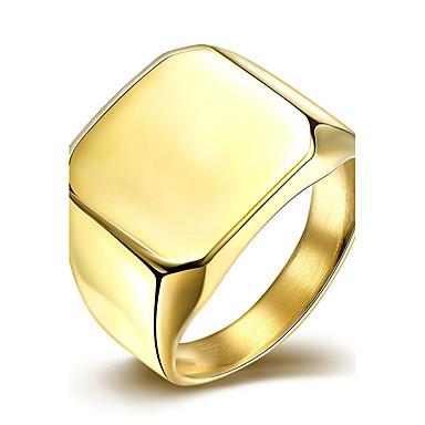 Damskie Pierścionek zaręczynowy Pierscionek minimalistyczny styl Ślubny Modny Stal tytanowa Kwadrat Biżuteria Prezenty bożonarodzeniowe