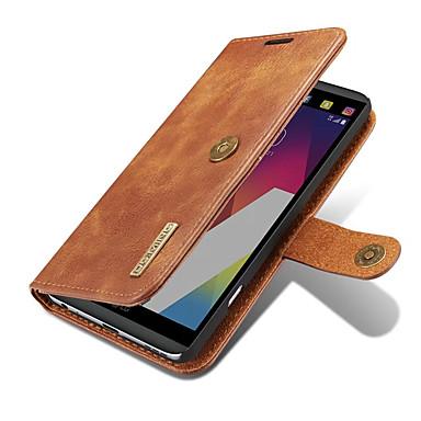 Maska Pentru LG Titluar Card Portofel Cu Stand Întoarce Magnetic Carcasă Telefon Culoare solidă Greu Piele autentică pentru LG V20 LG G6