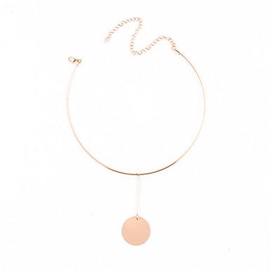 Damen Kreisförmig Personalisiert Anhänger Stil Anhänger Modisch Euramerican Halsketten Anhängerketten Schmuck Kupfer Halsketten
