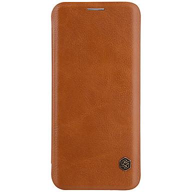 Hülle Für Samsung Galaxy S8 Plus S8 Kreditkartenfächer Flipbare Hülle Handyhülle für das ganze Handy Volltonfarbe Hart Kunst-Leder für S8