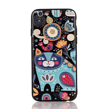 Για Ανάγλυφη Με σχέδια tok Πίσω Κάλυμμα tok Γάτα Σκληρή PC για AppleiPhone 7 Plus iPhone 7 iPhone 6s Plus iPhone 6 Plus iPhone 6s iPhone